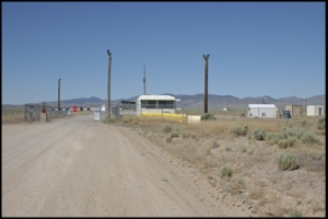 Rear guard gate to Area 51, Rachel, Nevada