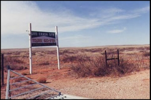 Roswell, New Mexico site of the 1947 UFO crash