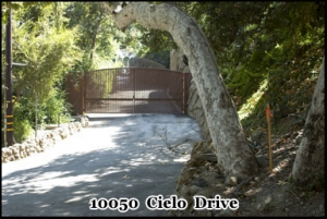 10050 Cielo Drive, Los Angeles. Location of the Sharon Tate murder house