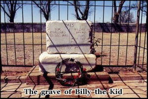 The final resting place of William H. Bonney in Fort Sumner, New Mexico