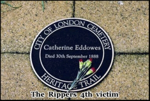 The rippers 4th victim Catherine Eddowes was also buried in the City of London Cemetery