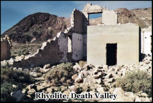 At one time the now abandoned Rhyolite ghost town had both a school and several stores