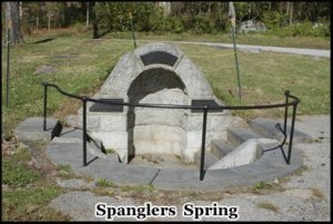Spanglers Spring where the ghost of a woman in white has been seen