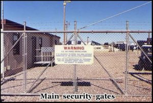 The main security gate to the Titan missile silo in Green Valley, Arizona