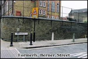 Liz Stride was murdered on Berner Street on 30th September 1888