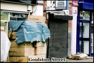 "Goulston Street is where the ripper wrote ""the juwes are the men that will not be blamed for nothing"""
