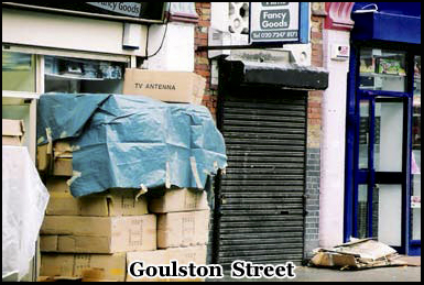 """Goulston Street is where the ripper wrote """"the juwes are the men that will not be blamed for nothing"""""""