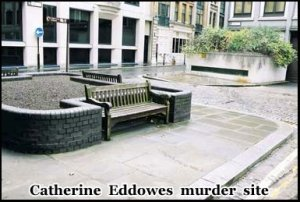 Catherine Eddowes was murdered by Jack the Ripper in Mitre Square