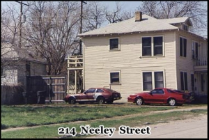 214 Neeley Street, Dallas. Location of the doctored photograph of Oswald holding a rifle