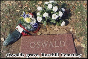Oswald's grave in Rosehill Cemetery, Dallas, Texas