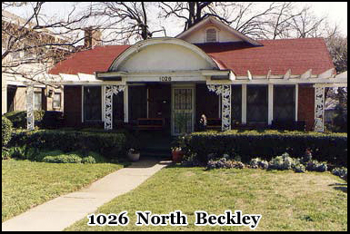 1026 North Beckley, Dallas, Oswald's rooming house before the Kennedy assassination