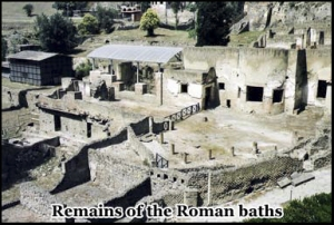 The remains of Pompeii's Roman baths