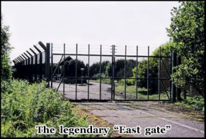 This is the famous East Gate through which base personal perused the UFO