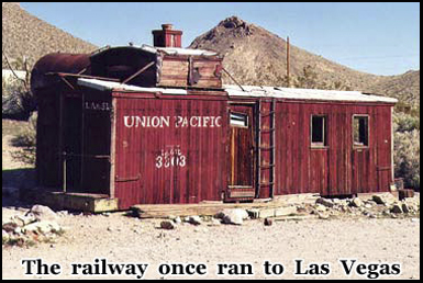 A railway once ran from Las Vegas to the former mining town