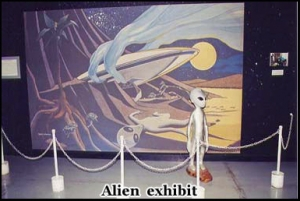 Depiction Of The UFO Crash Inside The Museum
