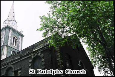During Victorian times St Botolphs Church was a congregation point for local prostitutes