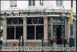 The Ten Bells pub in London's East End was once frequented by several of the rippers victims