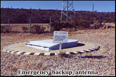 An emergency backup antenna insured that the crew in the silo could receive orders