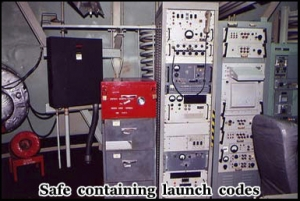 It took two people to launch the missile and the codes were held in a special safe