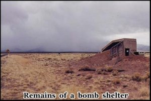 The bomb shelter at the entrance to the site was destroyed in the original blast