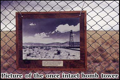 The worlds first atomic bomb was detonated on this tower on July 16th 1945
