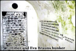 Hitlers and Eva Brauns bunker beneath the Hotel Zum Tuken