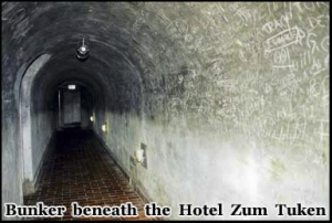 The remnants of the Nazi tunnel complex beneath the Hotel Zum Tuken