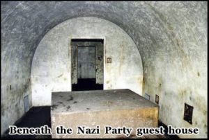 Secret tunnels beneath the Nazi party guest house