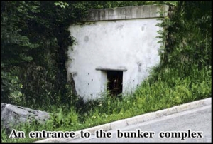One of the entrances to the abandoned bunker complex