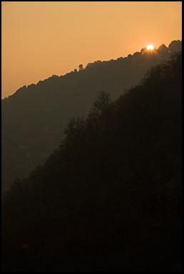 Sunset Over Poenari Fortress
