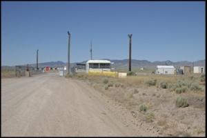 Rear guard gate to Area 51, Rachel, Nevada