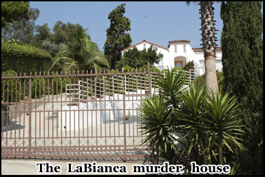 The La Bianca house where the Manson family murdered its occupants