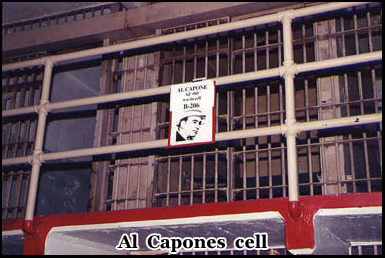 Al Capone's cell in Alcatraz was number 14 C