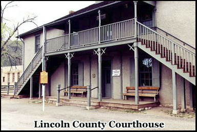 The Lincoln County Courthouse, New Mexico which also housed the jail