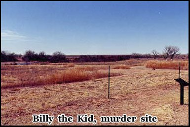 Sheriff Pat Garett shot and killed Billy the Kid at the Maxwell Ranch House