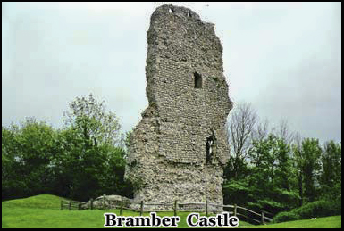 Bramber Castle is one of the most infamous places in haunted Sussex