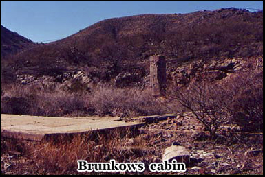 One of Tombstones ghost towns hold the ruins of Brunkows cabin