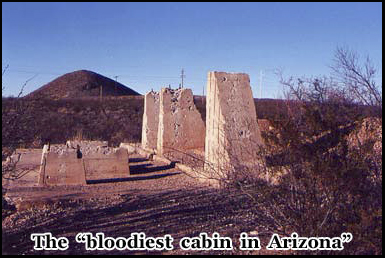"Brunkows cabin was known as the ""bloodiest cabin in Arizona"""