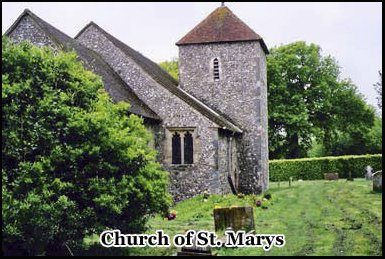 The Church of St. Mary's at the entrance to Clapham Woods
