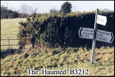 Phantom hands have grabbed the steering wheels of cars passing along the B3212