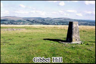 Gibbet Hill on the North-West corner of haunted Dartmoor