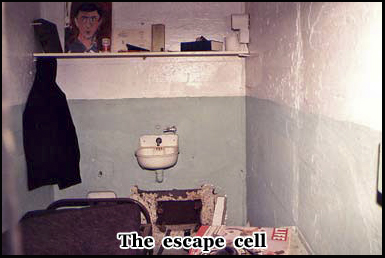 One of the cells from which 3 prisoners escaped from and weren't recaptured