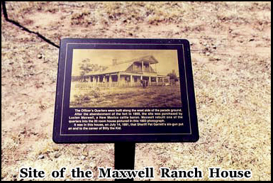 Former site of the Maxwell Ranch House in Fort Sumner