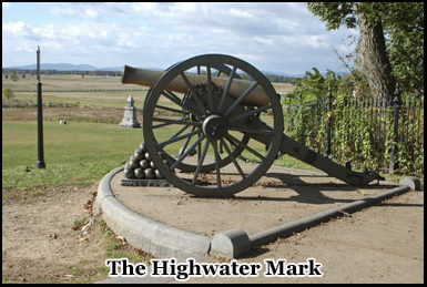 The Highwater mark at Gettysburg which was a turning point in the battle