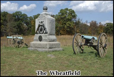 One of the bloodiest battles took place at the Wheatfield pm July 2nd 1863