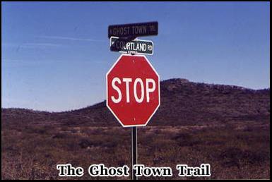The Ghost Town Trail runs several miles through the Arizona Desert