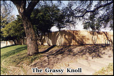 The Grassy Knoll, Dealey Plaza, possible location of a second assassin