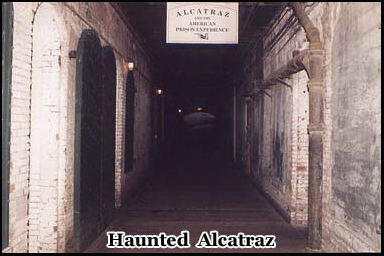 One of the long dark corridors beneath haunted Alcatraz