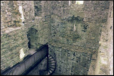 Phantom shadows have been seen among the ruins of Lydford Castle