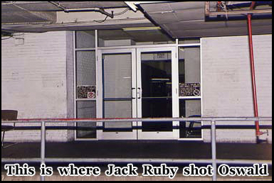 The rear entrance to the Dallas Police Station where Jack Ruby shot Lee Harvey-Oswald